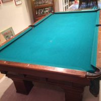 Antique Pool Table And Accessories