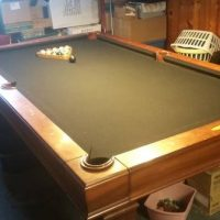 Pool Table With Accessories In Good Condition