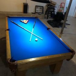 8' billiard table